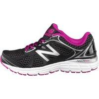 New Balance Womens W560 V6 Light Stability Running Shoes Black/Pink