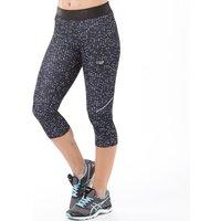 New Balance Womens Accelerate Printed Running Capri Leggings Black Digital Ovals