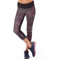 New Balance Womens Printed Running Capri Leggings Black/Pink