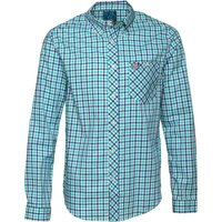 Henleys Mens Long Sleeve Checked Shirt Blue/Green Check