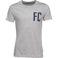 French Connection Mens FC Chest T-Shirt Light Grey Melange