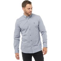 French Connection Mens Oxford Long Sleeve Shirt Marine