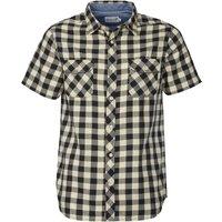 Onfire Mens Short Sleeve Checked Shirt Black/Ecru
