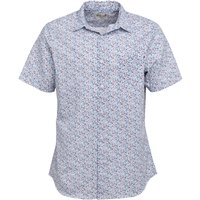 Onfire Mens Short Sleeve Floral Shirt White