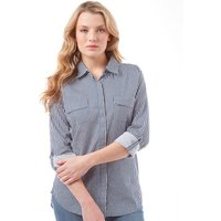 Onfire Womens Striped Overshirt Blue/White