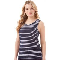 Onfire Womens Striped Vest Top Navy/White
