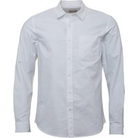 Onfire Mens Long Sleeved Plain Oxford Shirt White