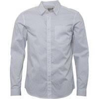 Onfire Mens Long Sleeved Printed Shirt White