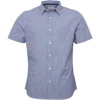 Onfire Mens Ticking Stripe Shirt Blue/White