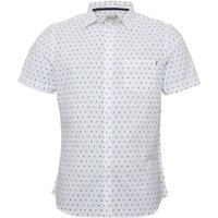 Onfire Mens Printed Shirt White/Navy/Red