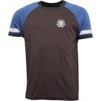 Onfire Mens Raglan Sleeve T-Shirt With Chest Print Charcoal Marl