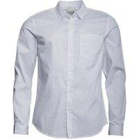 Onfire Mens Long Sleeve Dot AOP Shirt White