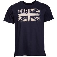 Onfire Mens Flag Print T-Shirt Navy