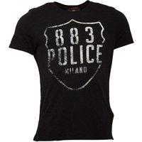 883 Police Mens Lando T-Shirt Jet Black