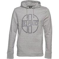 883 Police Mens Graphite Hoody Grey Marl