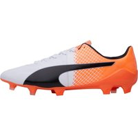 Puma Mens EvoSPEED 1.5 FG Football Boots White/Black/Orange