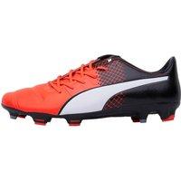 Puma Mens EvoPOWER 1.3 Leather FG Football Boots Red/White/Black