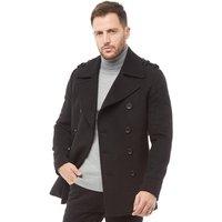 Feraud Mens Short Wool Reefer Jacket Black
