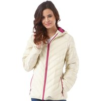 Trespass Womens Release Hooded Padded Jacket Champagne