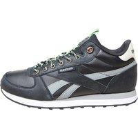 Reebok Mens Royal Classics Jogger Trainers Black/Flat Grey/Stucco/Solar Green/White