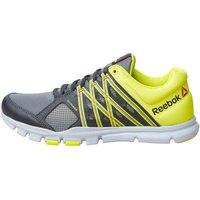 Reebok Mens Yourflex Train 8.0 Training Shoes Alloy/Coal/Hero Yellow