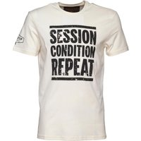 Front Up Rugby Mens Collins Logo T-Shirt Front Up Off White