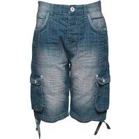 Ripstop Junior Jamstead Cargo Shorts Light Wash