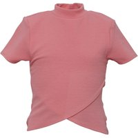 Blush Junior Girls Over High Neck Top Pink