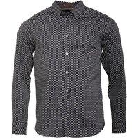 Ted Baker Mens Dyamond Long Sleeve Diamond Print Shirt Black