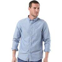 Timberland Mens Pleasant River Dobby Long Sleeve Shirt True Blue