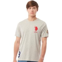 U.S. POLO ASSN. Mens Garrison T-Shirt Grey Marl