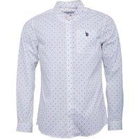 U.S. POLO ASSN. Mens Davis Shirt Bright White