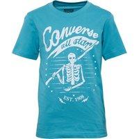 Converse Junior Skeleton Flag T-Shirt Agean Aqua