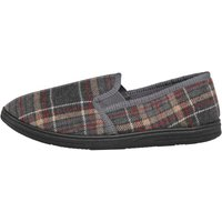 Mad Wax Mens Checked Slippers Grey Multi