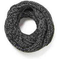 Impulse Womens Neon Knitted Snood - Black