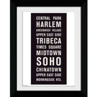 New York Locations - Collector Print - 30 x 40cm