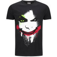 DC Comics Mens Joker Big Face T-Shirt - Black - XXL