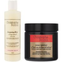 Christophe Robin Regenerating Mask with Rare Prickly Pear Seed Oil (250ml) and Delicate Volumizing Shampoo with Rose Extracts