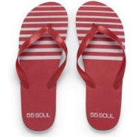 55 Soul Mens Flip Flops - Red - 6/7