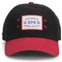 New Balance Unisex Ball Park 6 Panel Baseball Cap - Cotton Twill Black/Red