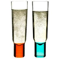 Sagaform Club Champagne Glasses 2 Pack - Turquoise/Orange