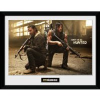 The Walking Dead Rick and Daryl Hunt - Framed Photographic - 16 x 12inch