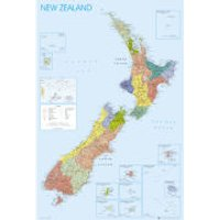 New Zealand Map - Maxi Poster - 61 x 91.5cm
