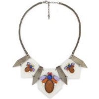Impulse Womens Multi Perspex Necklace - Clear