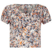 Madam Rage Womens Multi Print Crop Top - Multi - 10