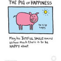 Edward Monkton Fine Art Print - Pig of Happiness