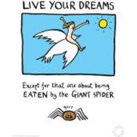 Edward Monkton Fine Art Print - Live Your Dreams