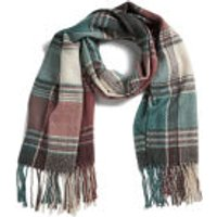Impulse Womens Check Scarf - Light Blue