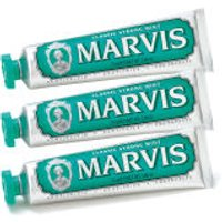 Marvis Classic Strong Mint Toothpaste Triple Pack (3 x 75ml)