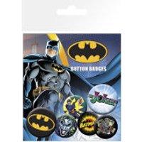 Batman Comic Logo and Joker - Badge Pack